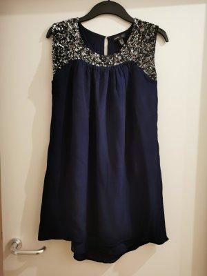 Mango Suit Sukienka typu babydoll ciemnoniebieski Wiskoza