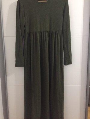 Vestido babydoll verde oliva-caqui