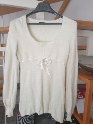 Moda International Bluzka tunika kremowy