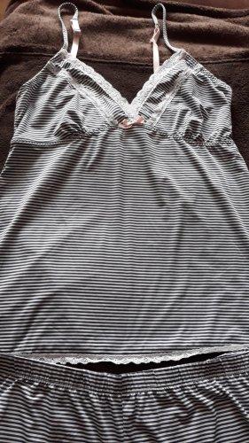 Ensemble de lingerie blanc-bleu polyester