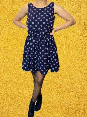 Sukienka typu babydoll ciemnoniebieski-biały
