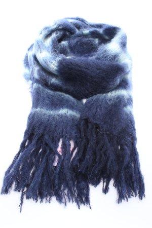 babymoh by HINTERVELD Écharpe en laine bleu-blanc motif rayé
