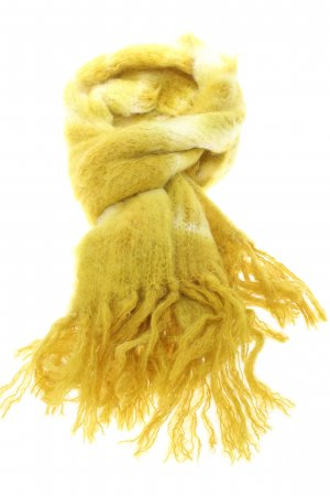 babymoh by HINTERVELD Écharpe en laine jaune primevère-blanc cassé