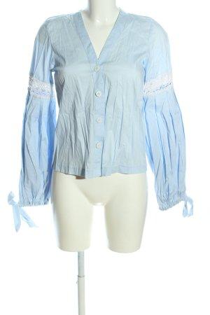 Blusa Crash blu-bianco stile casual