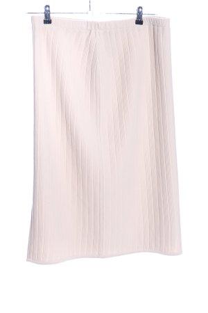 Midirock pink Streifenmuster Elegant