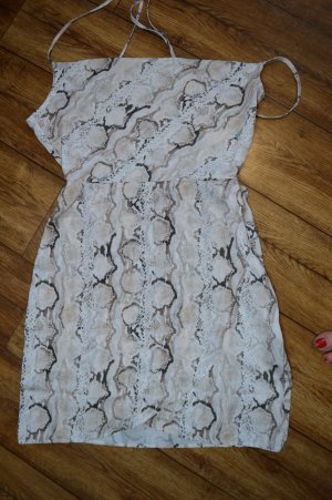 Back Detail Snake Short Dress 38 neu Nadine Klein Nakd