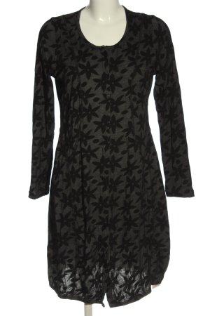 Back fragt Longsleeve Dress light grey-black allover print casual look