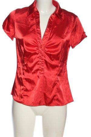 Background Bluzka z krótkim rękawem czerwony Elegancki