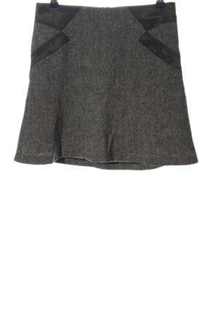 Background Mini-jupe gris clair-noir moucheté style décontracté