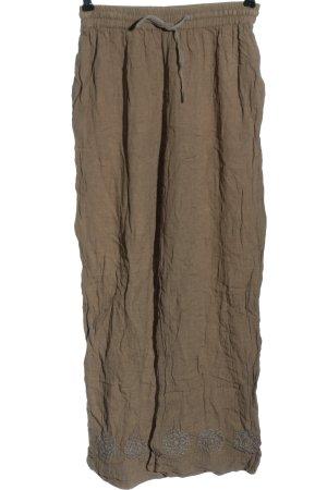 Background Spodnie materiałowe brązowy W stylu casual