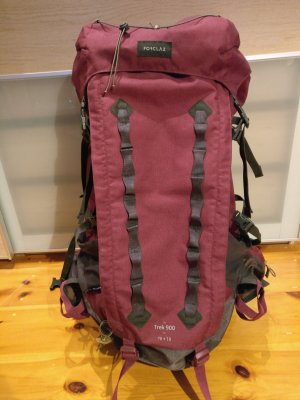 Backpacking-/Trekkingrucksack Forclaz Trek 900,  70+10l