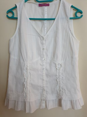 Backstage Blouse Top white