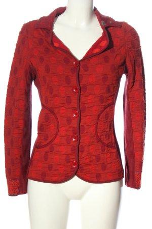 Backstage Cardigan rouge motif de tache style décontracté