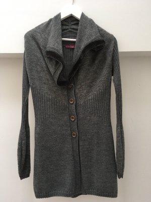 Backstage Cardigan tricotés gris foncé-brun noir
