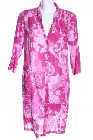 Backstage Hemdblusenkleid pink-weiß abstraktes Muster Casual-Look