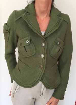 Backstage Blazer in lana verde Lana