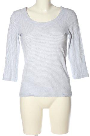 Backstage T-shirt rayé blanc-bleu imprimé allover style décontracté