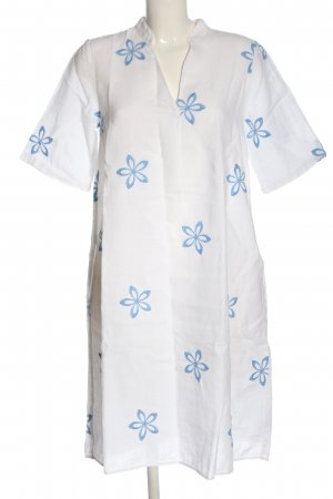 Backstage Summer Dress white-blue flower pattern casual look