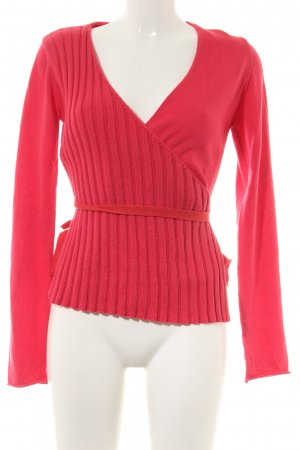 Backstage Strickjacke rot Zopfmuster Casual-Look