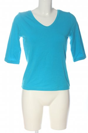 Backstage T-shirt col en V bleu style décontracté