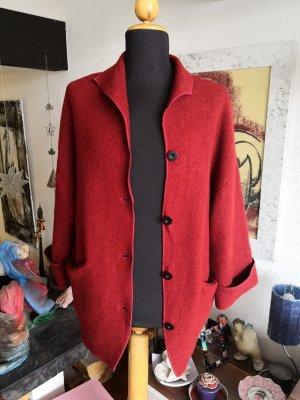 Backstage Manteau en laine rouge carmin-bordeau