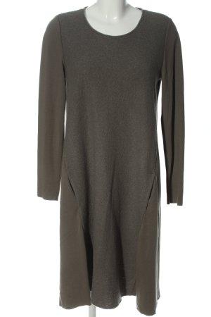 Backstage Woolen Dress khaki casual look