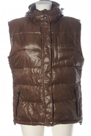 badari Down Vest brown themed print casual look
