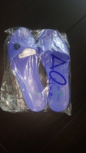 Aoline Chancla de baño púrpura-azul aciano