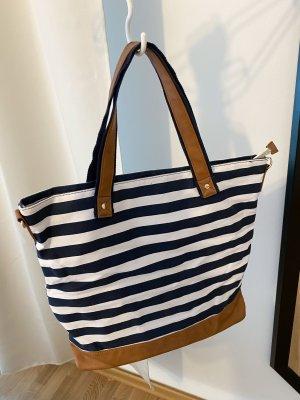 (Bade/Strand) oder Shopper Tasche gestreift