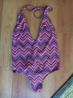 H&M Zwempak violet-neonroos Gemengd weefsel