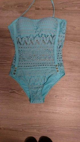Swimsuit light blue polyamide