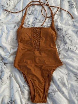 Aerie Traje de baño coñac-naranja oscuro