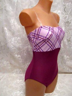 Basic Line Maillot de bain violet-rose