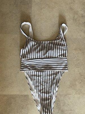 Forever 21 Swimsuit white-black