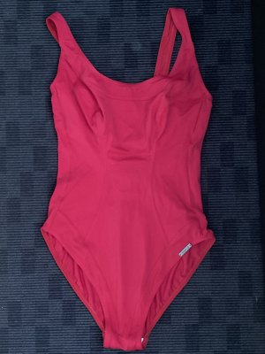 Green Olympia Swimsuit dark red