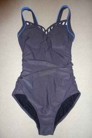 Badeanzug, Einteiler, Anzoni, Größe 36/38, schwarzbraun/blau