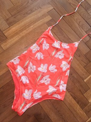 H&M Swimsuit red-natural white mixture fibre