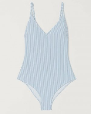 Alexander Wang for H&M Maillot de bain blanc-bleu pâle