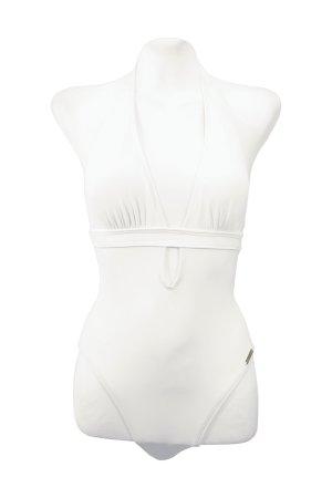 Badeanzug in Weiß