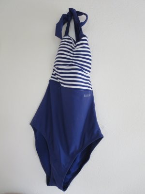 Elle Sport Traje de baño azul oscuro-blanco poliamida