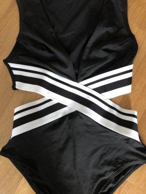 H&M Traje de baño negro-blanco