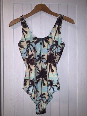 Badeanzug mit Palmenprint