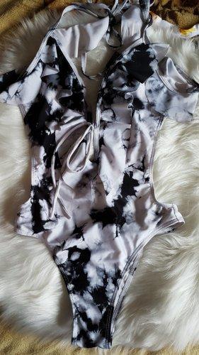 Costume da bagno bianco-nero