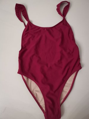 Swimsuit bordeaux-brown red