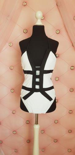 Swimsuit white-black