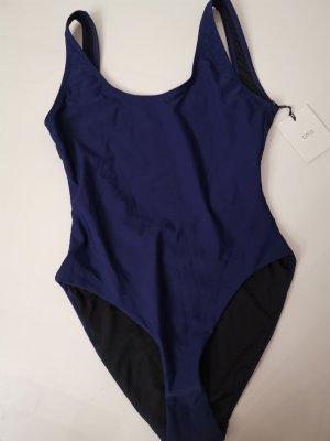 Costume da bagno blu-blu scuro