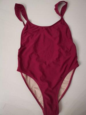 Costume da bagno bordeaux-marrone-rosso