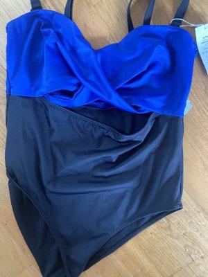 Badeanzug XXL 44 blau schwarz