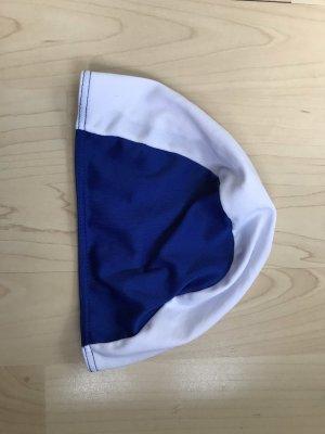 Chapeau en tissu bleu foncé-blanc