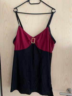 bpc Strój kąpielowy (sukienka) czarny-magenta